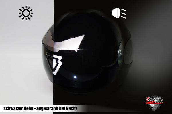 BIKE-label 910029 Helm Protektorsticker Reflex schwarz Sicherheit bei Nacht
