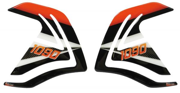 BIKE-label 800124 Seitentank Pad Carbon Orange kompatibel für KTM 1090 Adventure + R