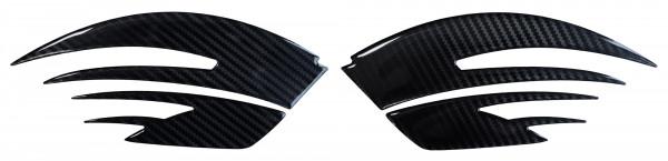 BIKE-label 810020 Seitentank Pad Motorrad Aufkleber Carbon Schwarz Optik