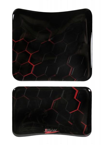 Tankpad Motorrad Tankschutz Aufkleber Waben Rot Red Lackschutzfolie universal
