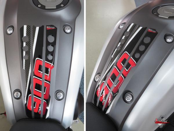 BIKE-label 502302 Tankpad Carbon Rot kompatibel für Yamaha XSR 900