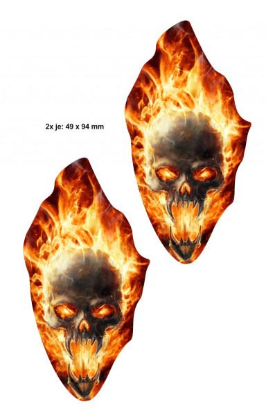 BIKE-label 400060 Aufkleber Sticker Flammen Dämon Schädel