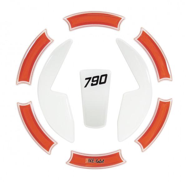 Tankdeckel-Pad Lackschutz Aufkleber passend für KTM 790 Duke - Styling Orange