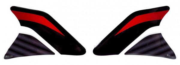 Seiten-Tankpad Lackschutz Aufkleber für Motorrad-Tanks Silver Street - Form 6