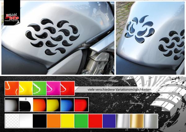 BIKE-label 800041 Motorrad Lackschutz Aufkleber Sticker Tropfen