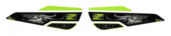 Seitentank Pad Grün Grau Drache Motorrad Schutz kompatibel für Kawasaki Z900
