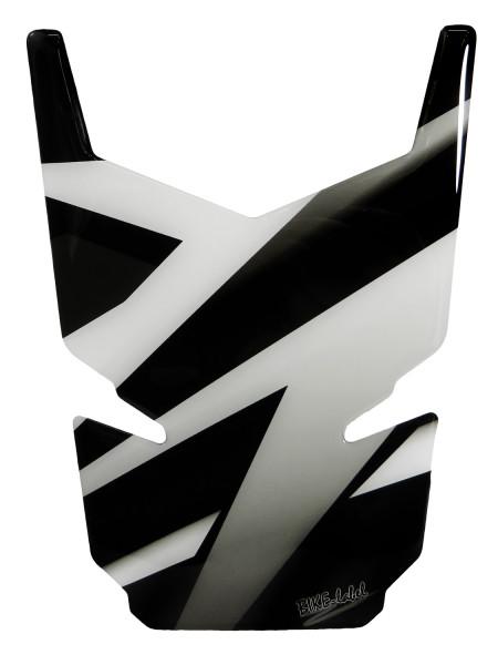 BIKE-label 502547-D Tankpad Motorrad Aufkleber Silver Stripes