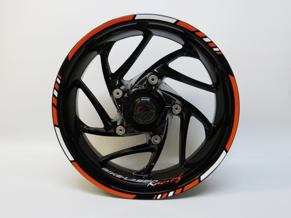 Felgenrand-Aufkleber - Racing-Orange