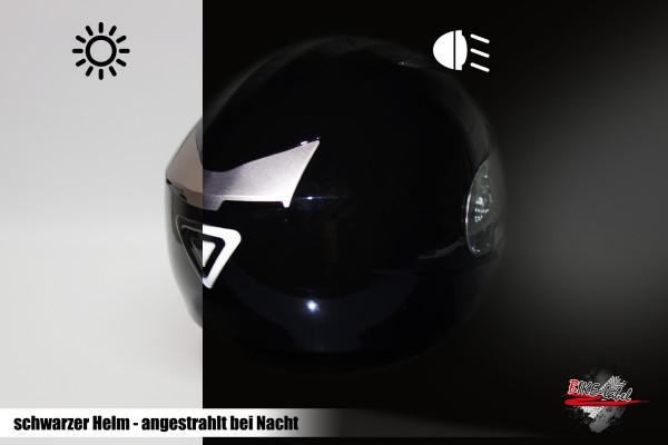 BIKE-label 910030 Helm Protektorsticker Reflex schwarz Sicherheit bei Nacht