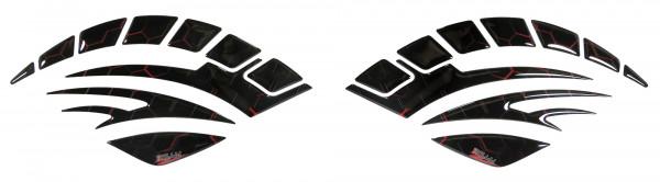 Seitentank Pad Motorrad Knie-Pad Tankschutz Lackschutz Aufkleber Waben Rot Red