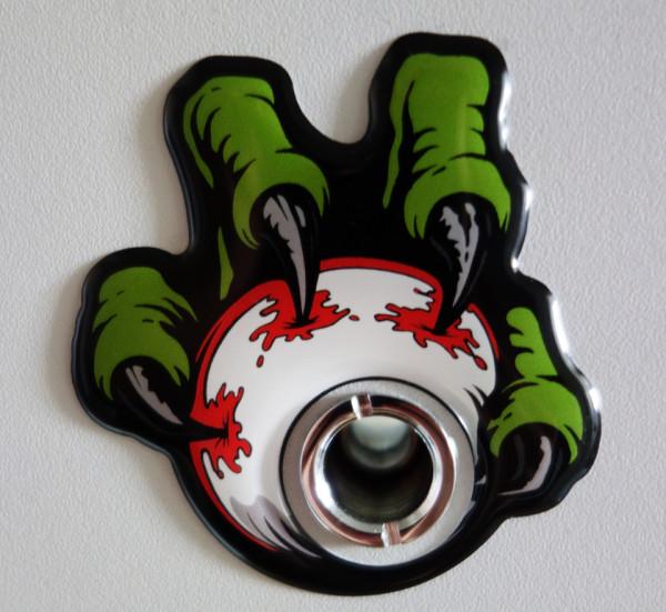 BIKE-label 910002 Aufkleber 3D Türspion Monster Augen Klauen Fun-Sticker