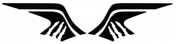 BIKE-label 800220 Seitentank Pad Schwarz Black kompatibel für Yamaha MT-07