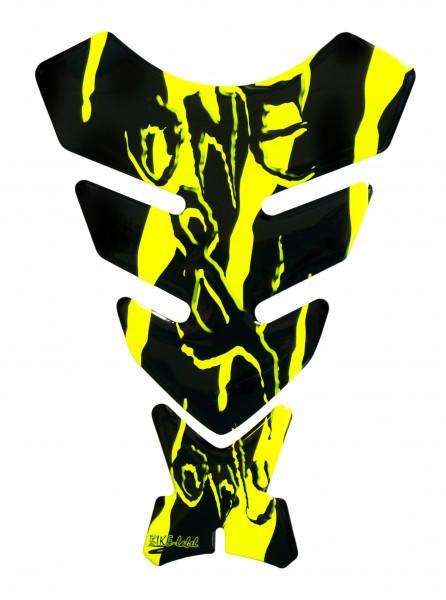 BIKE-label 501782 Tankpad Motorrad Monster Aufkleber neon Gelb
