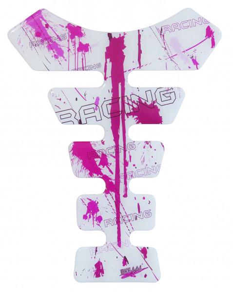 BIKE-label 500331 Tankpad Motorrad Aufkleber Racing Pink White