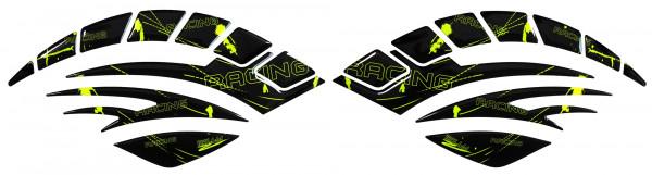 BIKE-label 800090 Seitentank Pad Motorrad Lackschutz Aufkleber Racing Neon Gelb