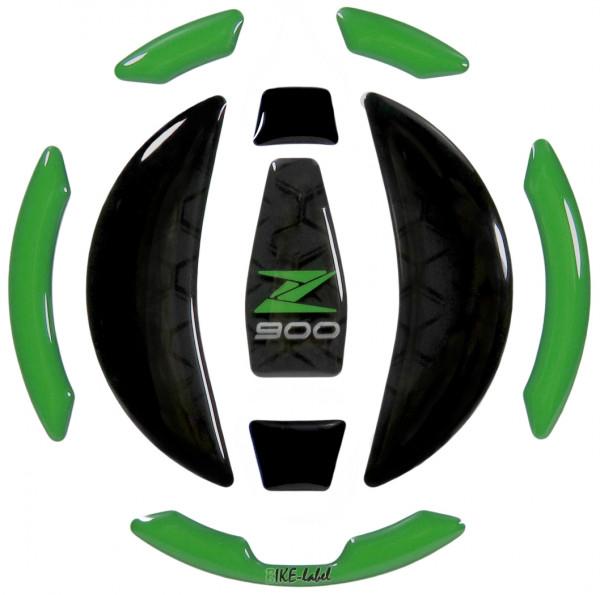 Tankdeckel Pad Grün Schwarz Motorrad Schutz kompatibel für Kawasaki Z900