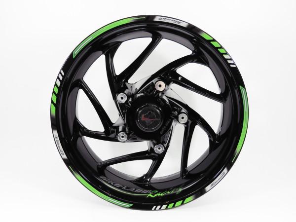 Felgenrand Aufkleber 16 17 18 Zoll für Motorrad Auto Felgen grün