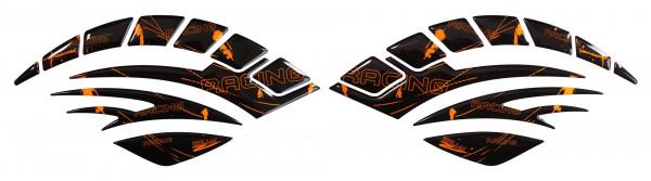 Seitentank Pad Motorrad Aufkleber Racing Neon Orange
