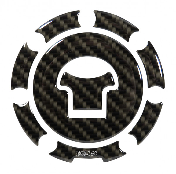 BIKE-label 600013 Tankdeckel Pad Carbon Braun universell kompatibel für Honda