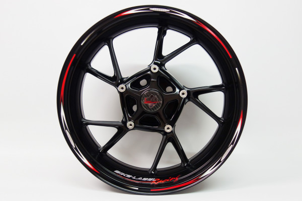 BIKE-label 710011 Felgenrand Aufkleber Racing schwarz rot weiß