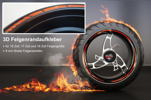 BIKE-label 700003 3D Felgenrand Aufkleber Orange