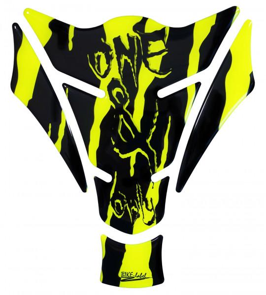 BIKE-label 501786 Tankpad Motorrad Monster Aufkleber neon Gelb