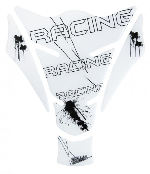 BIKE-label 500327 Tankpad Motorrad Aufkleber Racing schwarz weiß