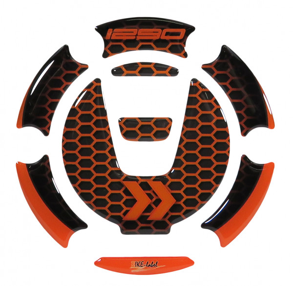 BIKE-label 660005 Tankdeckel Pad kompatibel für KTM 1290 Super Adventure R + S und 1290 Super Duke R