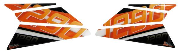BIKE-label 800400 Seitentank Pad Orange kompatibel für KTM 1290 Super Duke GT