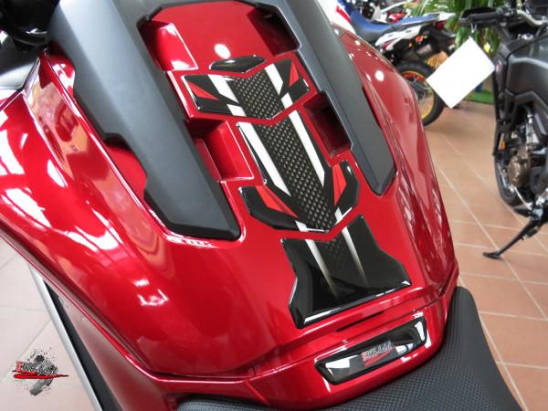 BIKE-label 502120 Tankpad Carbon Stripes Red kompatibel für Honda NC 750X