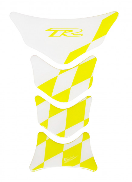 Tankpad Racing Flag - Transparent - Yellow - Form 12