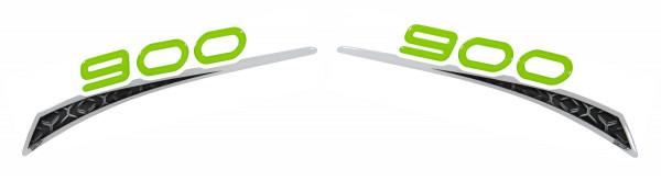 Schriftzug Dekor Aufkleber Grün Weiß Sitzverkleidung kompatibel für Kawasaki Z900