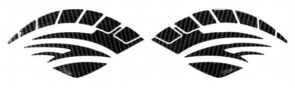 Seitentank Pad Motorrad Knie-Pad Tankschutz Aufkleber Carbon-Optik Schwarz Black