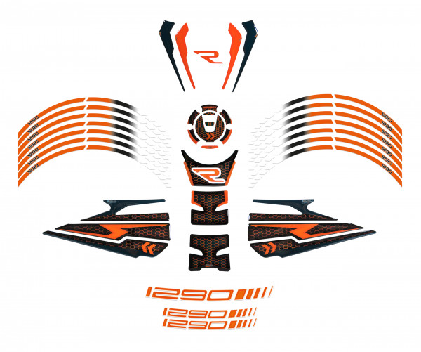 BIKE-label 850006 Motorrad Aufkleber Set kompatibel für KTM 1290 Super Duke R - ab BJ 2020