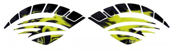 BIKE-label 810016 Seitentank Pad Motorrad Aufkleber Flame Gelb Flammen