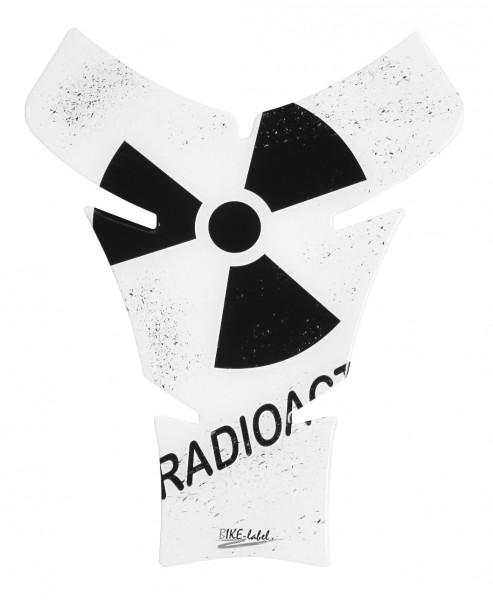 BIKE-label 500764 Tankpad Motorrad Aufkleber Radioaktiv Weiß Biohazard