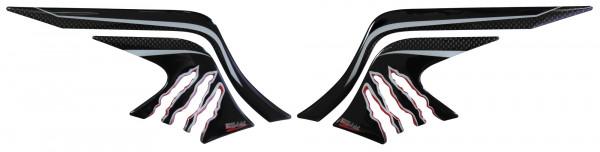 BIKE-label 800223 Seitentank Pad Carbon Rot kompatibel für Yamaha MT-07