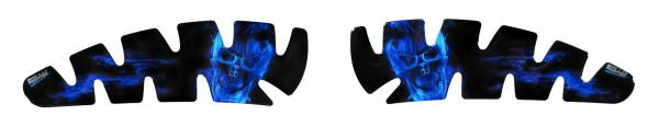 Seiten-Tankpad Lackschutz Aufkleber für Motorrad-Tanks Ghost Blue - Form 2