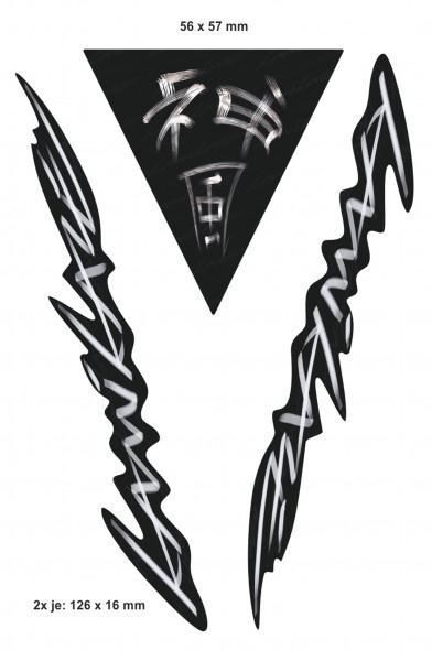 BIKE-label 400078 Aufkleber Sticker Kamikaze schwarz weiß Schriftzug