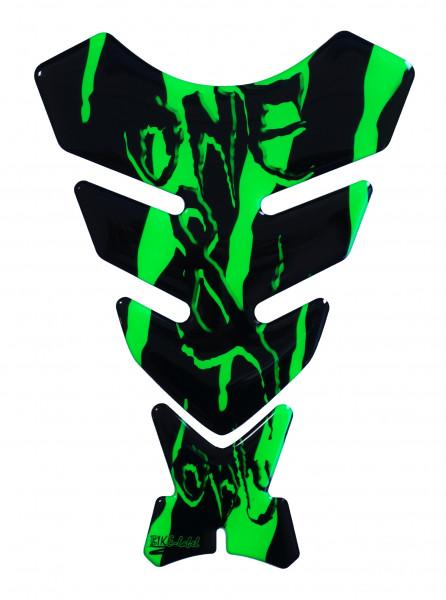 BIKE-label 501780 Tankpad Motorrad Monster Aufkleber neon Grün