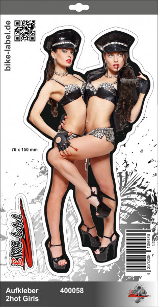 BIKE-label 400058 Aufkleber Sticker hot Girls Lack und Leder Polizistinnen