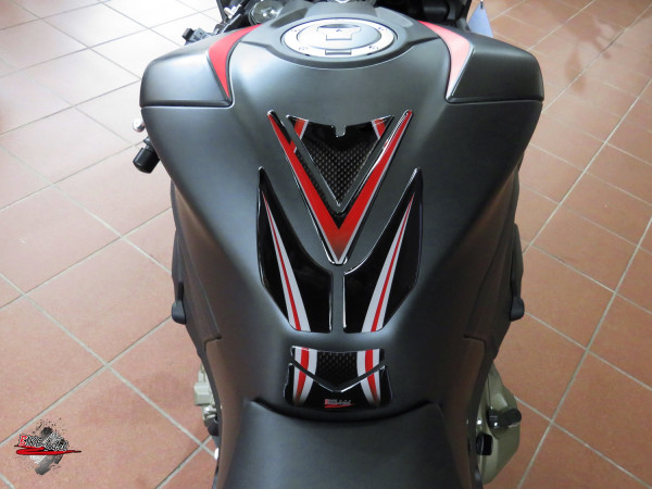 BIKE-label 502040 Tankpad Carbon Rot kompatibel für Honda CBR 1000 RR Fireblade