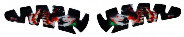 BIKE-label 800023 Seitentank Pad Motorrad Aufkleber Horrorclown Joker Clown