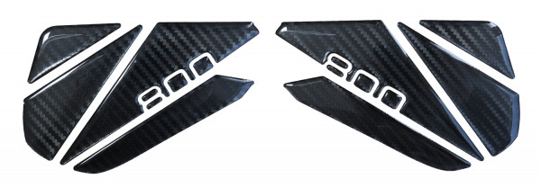 BIKE-label 800162 Seitentank Pad Carbon Schwarz Optik kompatibel für Kawasaki Z800