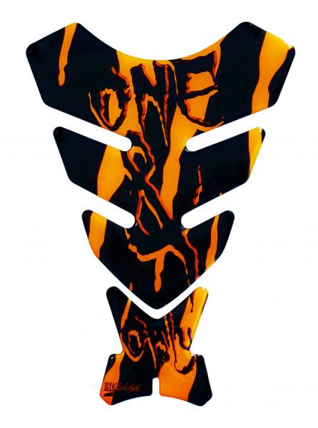 BIKE-label 501783 Tankpad Motorrad Monster Aufkleber neon Orange
