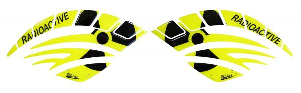 BIKE-label 800064 Seitentank Pad Motorrad Radioaktiv Neon Gelb Biohazard