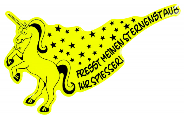 BIKE-label 910014 Aufkleber neon gelb Fresst meinen Sternenstaub Auto-Sticker