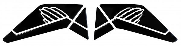 BIKE-label 800321 Seitentank Pad Schwarz Black kompatibel für Honda CRF 1000L Africa Twin