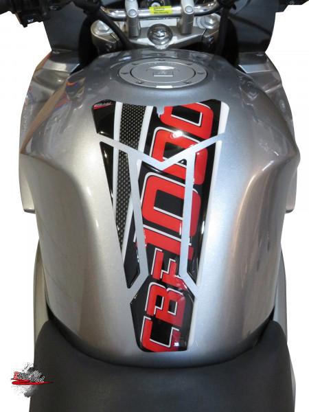 BIKE-label 502020 Tankpad Carbon Rot kompatibel für Honda CBF 1000