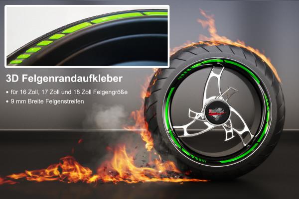 BIKE-label 700002 3D Felgenrand Aufkleber Grün